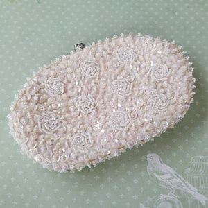 1950s Vintage Bead and Sequin clutch purse